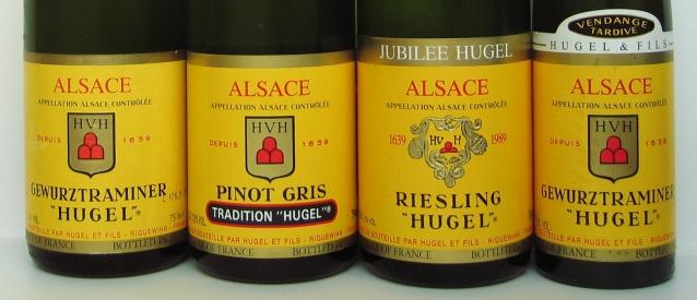 Four_Hugel_bottle_labels
