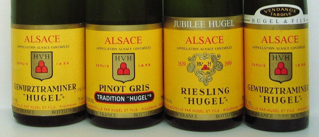 Four_Hugel_bottle_labels