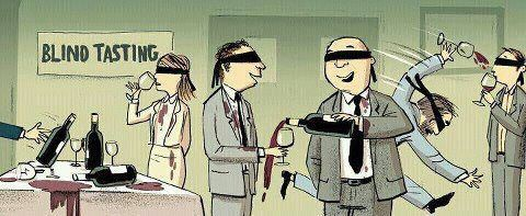 degustação às cegas