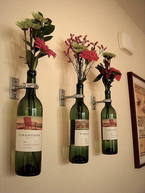 decoracao-garrafas-vinho-flores